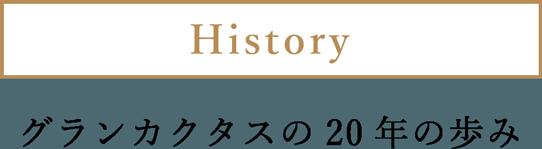 History グランカクタスの20年の歩み